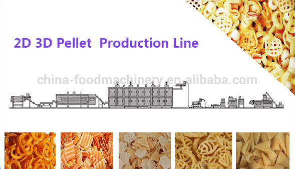 Hot sale full automatic 3d papad pani puri fryums making machine