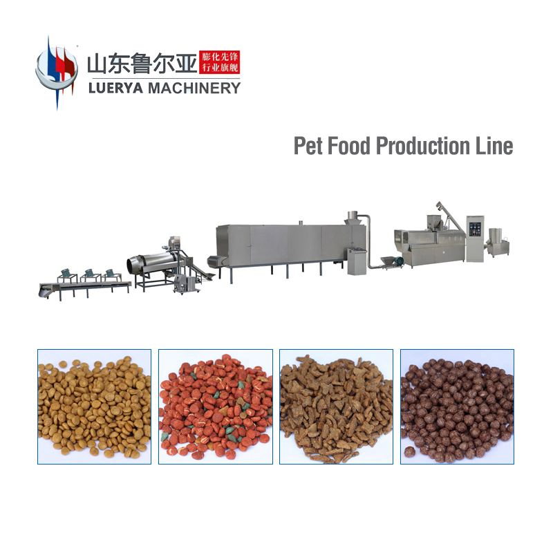 Full automatic pet dog cat food extruder machine