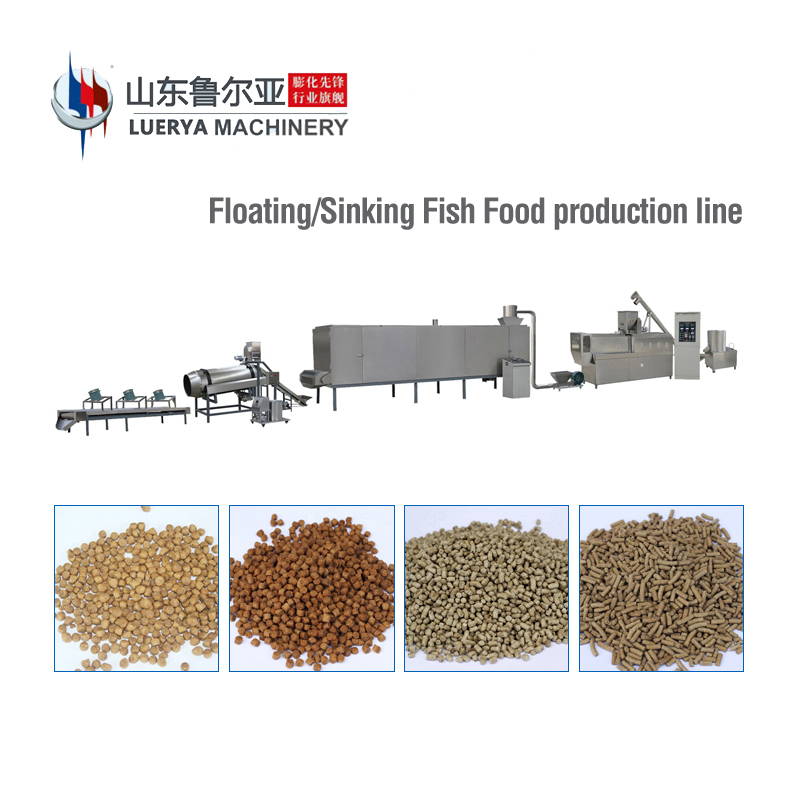 China Jinan animal feed extruder machine production line