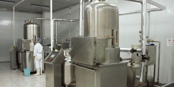 Batch type vacuum deep fryer for fruit chips