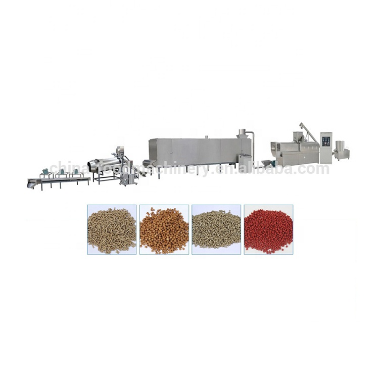 Full-automatic floating fish feed pellet extruder with stainless steel